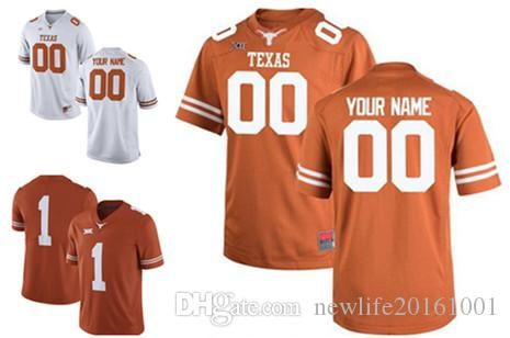 timeless design ce6bc 6eb94 Custom Texas Longhorns College Football Jerseys 46 Malik Jefferson 7  Antwuan Davis 13 Jerrod Heard 55 Connor Williams 2017 New Orange White