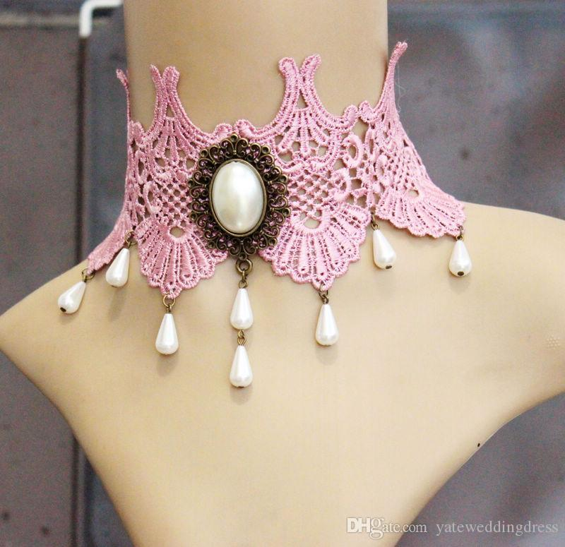 Bohemia Knit Bridal Accessories Set Pink Custom Made Wedding Necklace Earrings Bracelet 2016 Nueva moda de punto accesorio con Crystal Rhinest