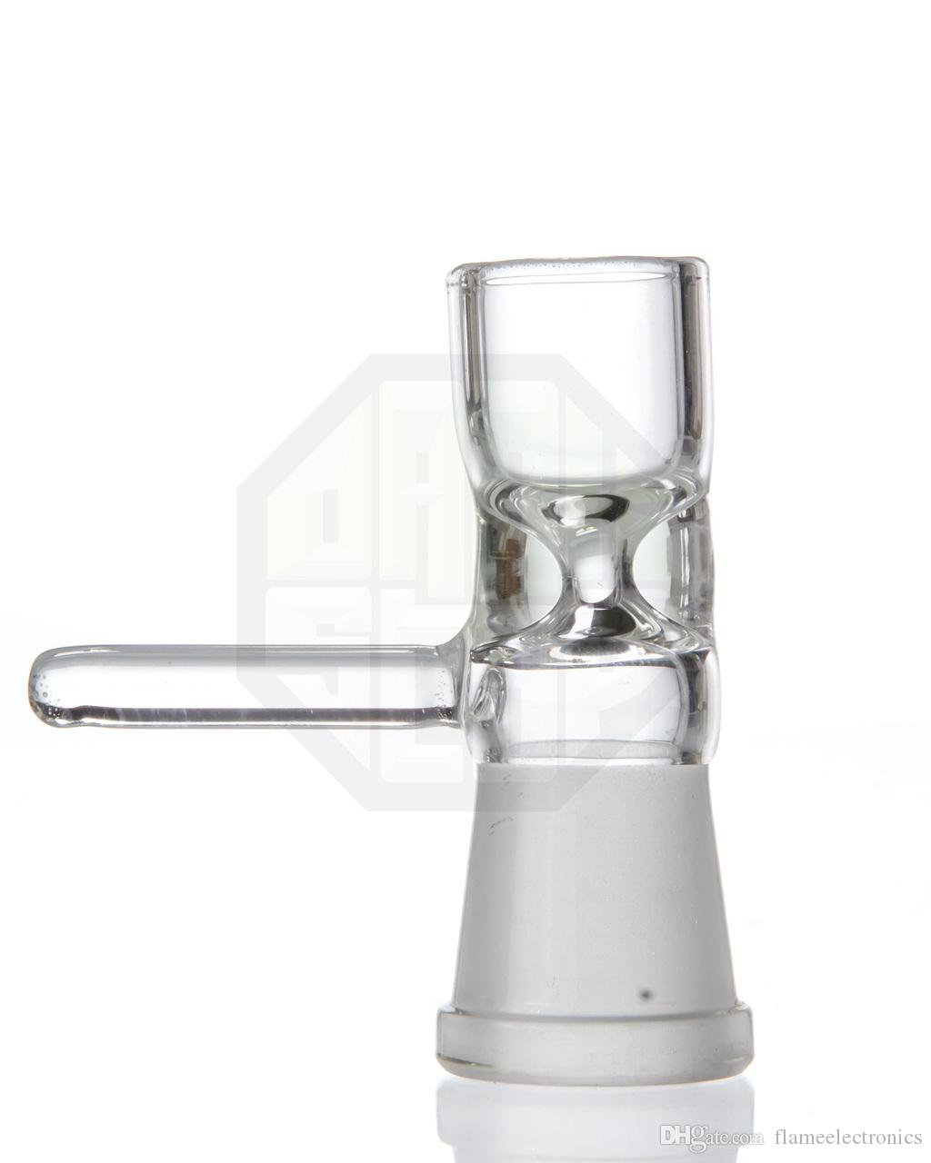 14mm oder 19mm Female Pinch Bowl mit Griff Direkt Inject Snapper 14.5mm 18.8mm Glasschale