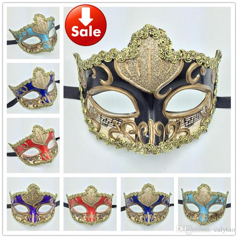 Decorative Masquerade Masks Luxury Party Masks Gold Sexy Lace Woman Mask Carnival Mardi Gras 50