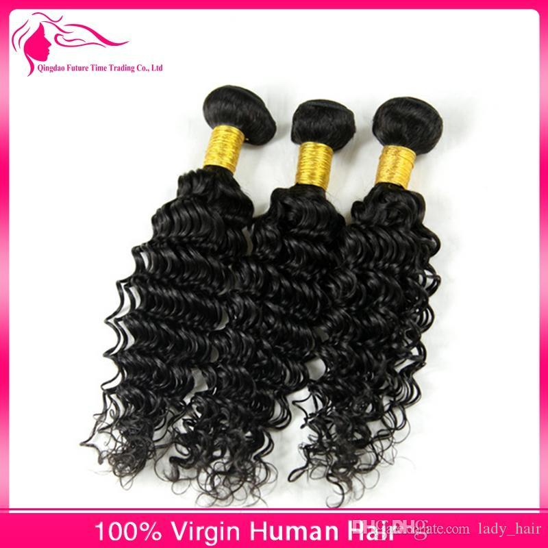 Hot Sale 13x4 Ear to Ear Lace Frontal Closure With Bundles Brazilian Human Hair Deep Curly Wave With Full Lace Frontal