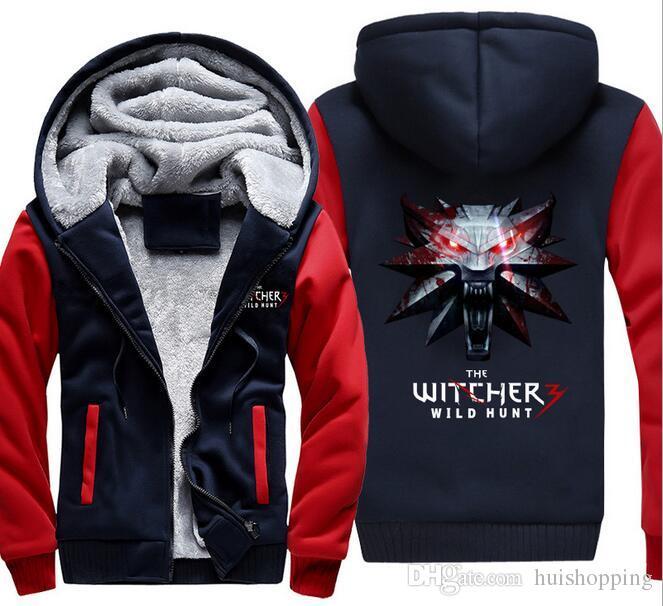 274e1afad743 2019 2017 Game PS4 THE WITCHER 3 WILD HUNT Hoodie Winter Thicken Fleece  Jacket Cotton Coat Long Sleeves Pullover Sweatshirt Zipper Tops Plus Size  From ...