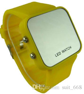 Free shipping led electronic table mirror table mirror table jelly bracelet male and female students watch women watch waterproof couple tab
