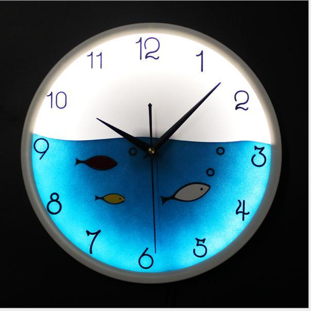 12inch glowing wall clocks fashion glow in the dark led wall clock 12inch glowing wall clocks fashion glow in the dark led wall clock cute fish quartz clock movement wall watches home decor f58 kids wall clocks kitchen mozeypictures Images
