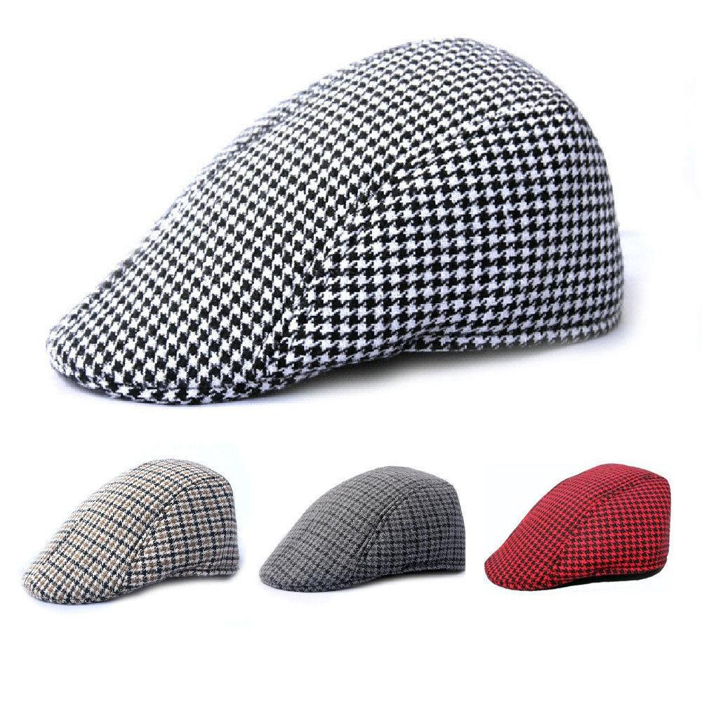 Mens Tweed Flat Cap Herringbone Country Peak Hat Farmer Golf Classic The  Game Hats Baby Caps From A121144507 b164de574ba