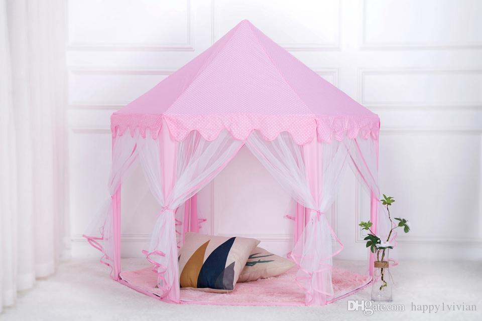 Children Portable Floding Princess Castle Play Tent Activity Fairy House Funny Tents Indoor Outdoor Sport Toy For Kids