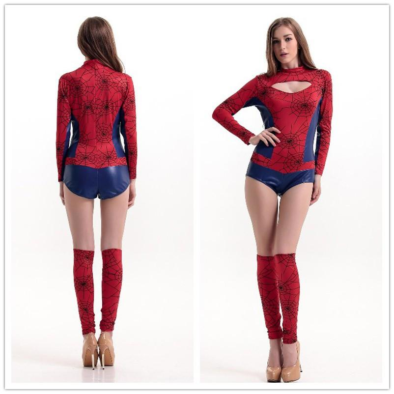 Sexy Halloween Costumes For Women Adult Superhero Sexy Spider Vigilante Costume Spiderman Outfit Metallic Romper H39298 Good Costume Themes Costume Party ...  sc 1 st  DHgate.com & Sexy Halloween Costumes For Women Adult Superhero Sexy Spider ...