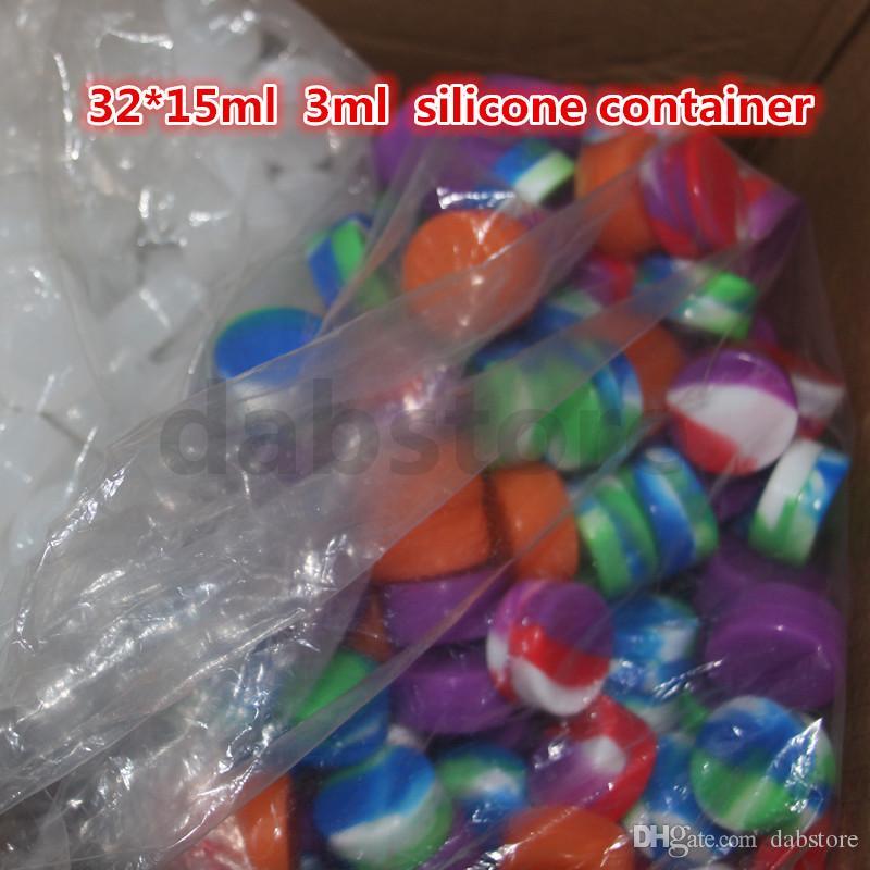 Il contenitore di cera antiaderente in silicone da 3 ml più venduto / vasetto in silicone alimentare / silicone containa olio o cosmetici