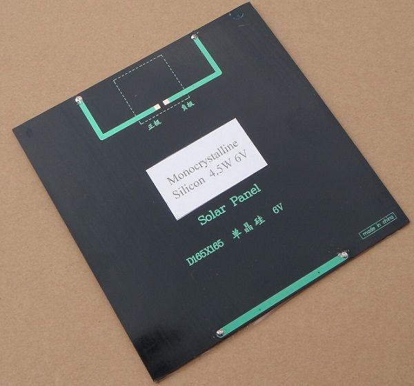 خلية عالية الجودة 4.5W 6V وحة للطاقة الشمسية أحادي البلورية للطاقة الشمسية DIY نظام شاحن للطاقة الشمسية وحدة التعليم مجموعات الايبوكسي 165 * 165 * 3MM شحن مجاني