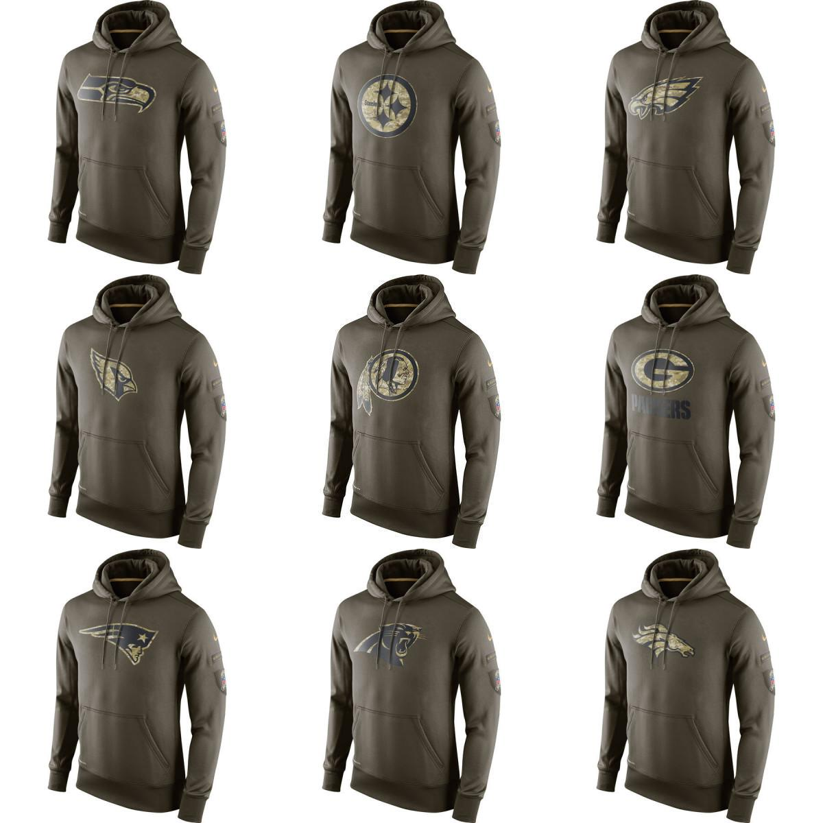 innovative design 80bd5 81b13 Panthers Hoodie Fashion Designer Broncos Saints Packers Cardinals Eagles  Green Salute To Service Hoodies Sweatshirt Free Shipping