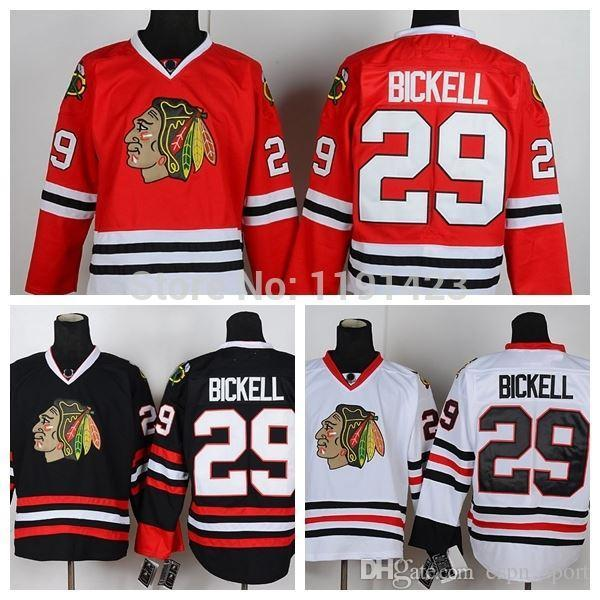 new concept fd581 ae6f3 Men s Chicago Blackhawks Hockey Jerseys #29 Bryan Bickell Jersey Home Red  Road White Third Black Cheap Stitched Jerseys China