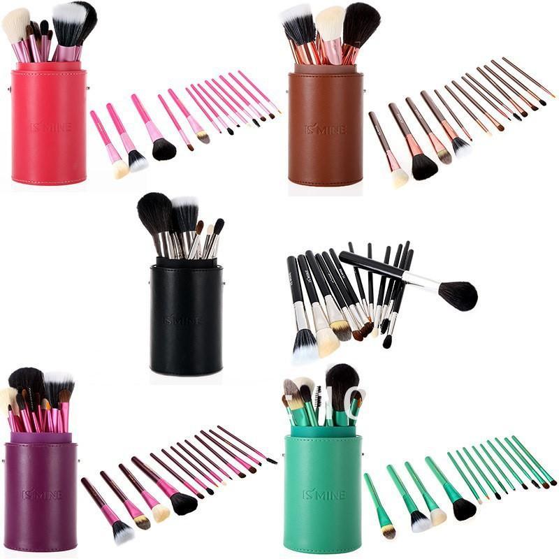 Original Ismine Black Professional Makeup Brush Set Cosmetic Brush