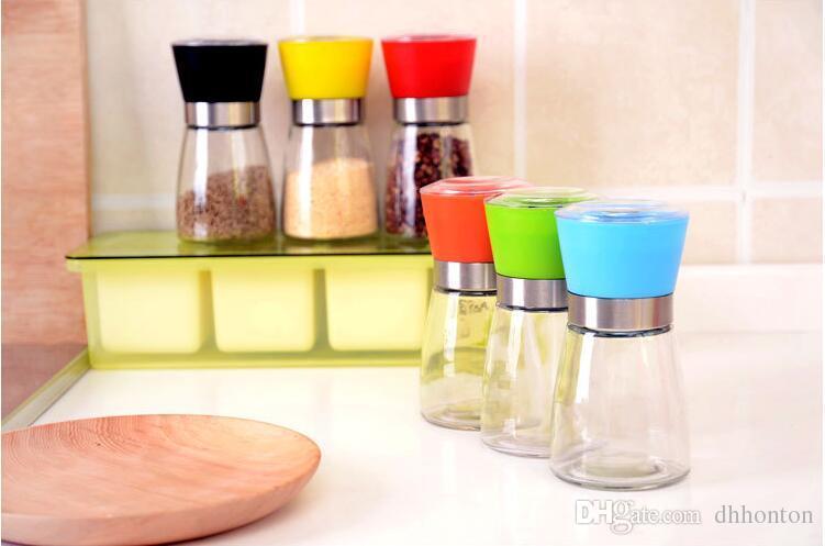 Vidrio Sal molinillo de pimienta Grinder Spice Sauce Mill Grind Stick utensilios de cocina Herramienta de cocina Herramientas de cocina Cocina de vidrio lanzador envío gratis ST05