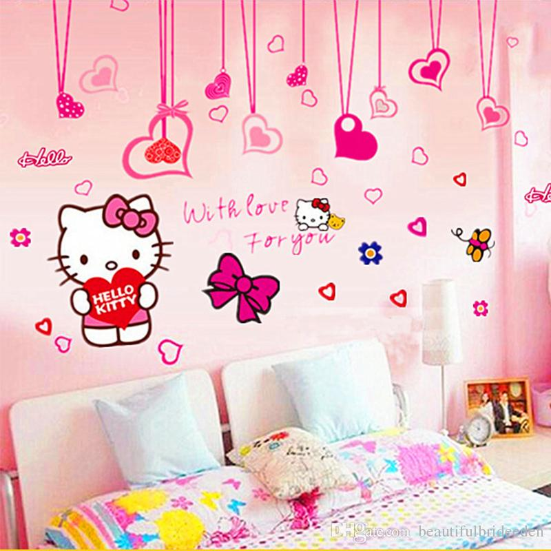 Captivating Hello Kitty Bow Wall Stick A Hello Kitty Cute Children Background Sticker  The Wallpaper Of Bedroom The Head Of A Bed Wall Decals Quotes Wall Decals  ... Part 19