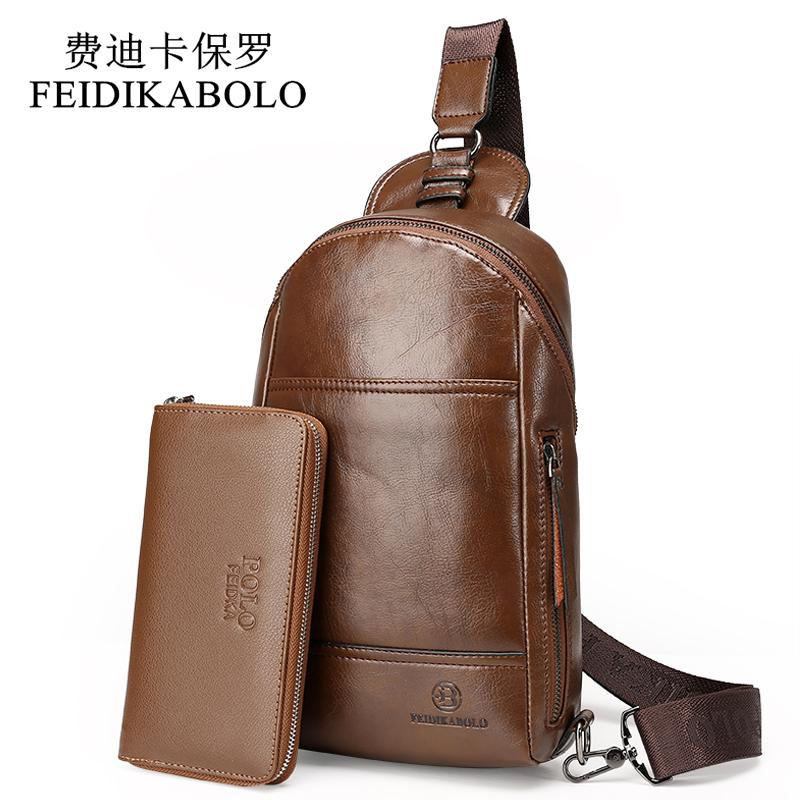 feidikabolo summer bag men chest pack designer male single shoulder strap back bags leather travel men crossbody bags chest bag weekend bags for women