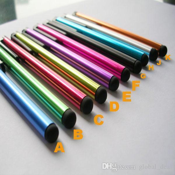 Stylet capacitif universel pour iPhone 7 7plus 6 6S 5 Pen tactile pour 5S téléphone portable pour Tablet différentes couleurs
