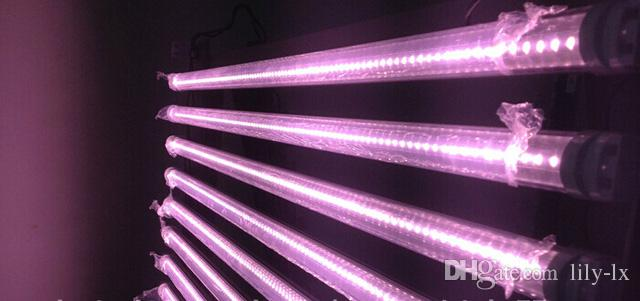 Fleisch-Rohr T8 LED Rohr 22W 4ft 1.2m Rosa LED brennt Leuchtstofflampe Lampe SMD2835 AC85-265V CER RoHS UL FCC ETL SAA TUV /