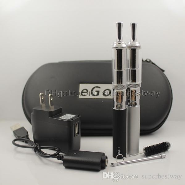 Ego T Cloutank M3 Vaporizer Double Kit Wax Vaporizer Refillable M3 Dry Herb Burner Ego Vapor Battery Case Electronic Cigarette Kit CA0532