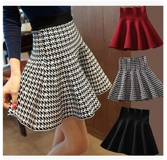 Check Pleated Skirts Summer Skirt Skirts for Women High ...