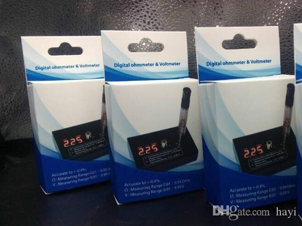TOP Digital Ohm meter Voltmeter Ohm Reader Resistance tester for 510 RBA RDA ego evod ce4 MT3 DHL Free