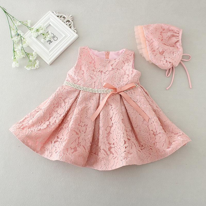 d1c595c22 Wholesale- Newest Infant Baby Girl Birthday Party Dresses Baptism ...