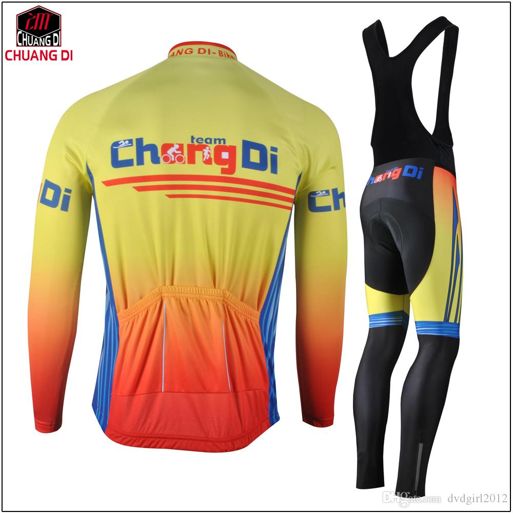 Brand Pro cycling Ropa Ciclismo Quick-dry long sleeve Breathable Cycling jersey cloth MTB Bicycle maillot bike clothing Set