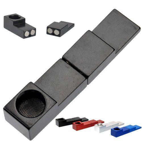 Metall Magnetische Rohr Magnetische Metall PipeTinkSky Mini Typ Faltbare Metall Magnet Zigarette Tabakpfeife Magnet Falten Rohr
