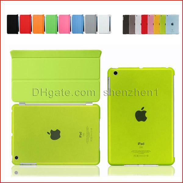 Smart Cover Magnetic Sleep Wake PU Leather Case+ Crystle Hard Back Case 9.7 /10 Inch For Ipad 2 3 4 5 Ipad Air Multicolor PCC008