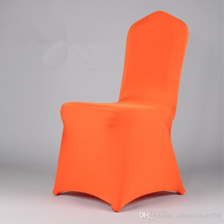 Hot Ing Polyester Spandex Chair Covers For Weddings Party Banquet Folding Sashes Colorful Hotel Decoration Recliner Seat Wedding Linen