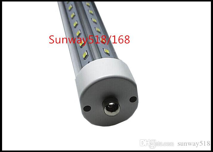 Ultra Bright 72W 8ft Led Tubes Double Sides T8 FA8 Single Pins R17D G13 Ingetrated Led Lights Tubes 8000 Lumens AC 85-265V UL