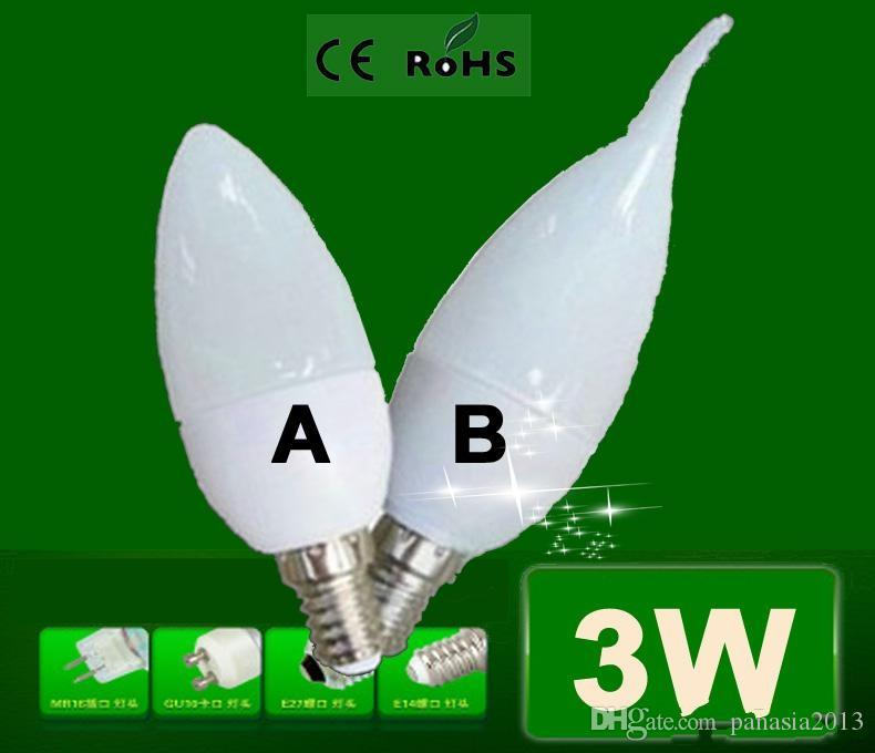 Gros Livraison Gratuite Enegery sauver Cree E14 LED Bougie lumière haute puissance 3 W Led lumière LED Spot LED Ampoule lampe Lumière intérieure