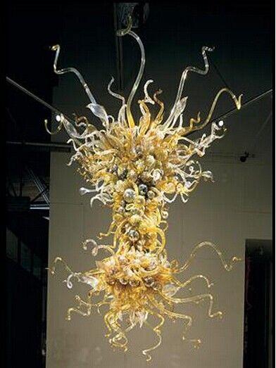 100% Mouth Blown CE UL Borosilicate Murano Glass Dale Chihuly Art Unique Craft Pendant Lights Led Modern