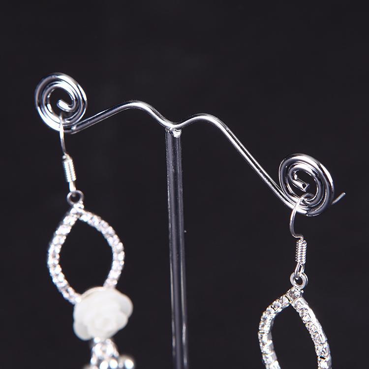 Nouveau Clair Acrylique Arbre Bijoux Présentoir Boucle D'oreille Affichage Stand Boucle D'oreille Titulaire Rack Showcase collier Titulaire