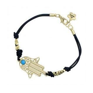 772bd08f4093d Lucky Bracelets Gold Beads Hamsa Gold Evil Eye Bracelet With Be Happy Logo  Silver Charm Bracelets Gold Charms For Bracelets From Lemonnana