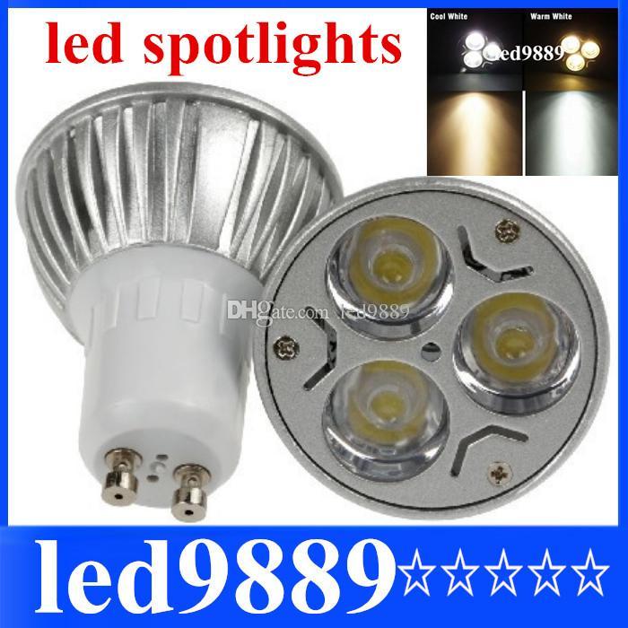 Gu10 6w 85-265v Power Energy Saving Bulb 3 Led Warm White Commercial Lighting