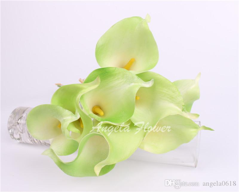 Best Sale Real Touch Artificial Flower silk flower Romantic Wedding Party Calla Lily flower bouquet For Home Decorition