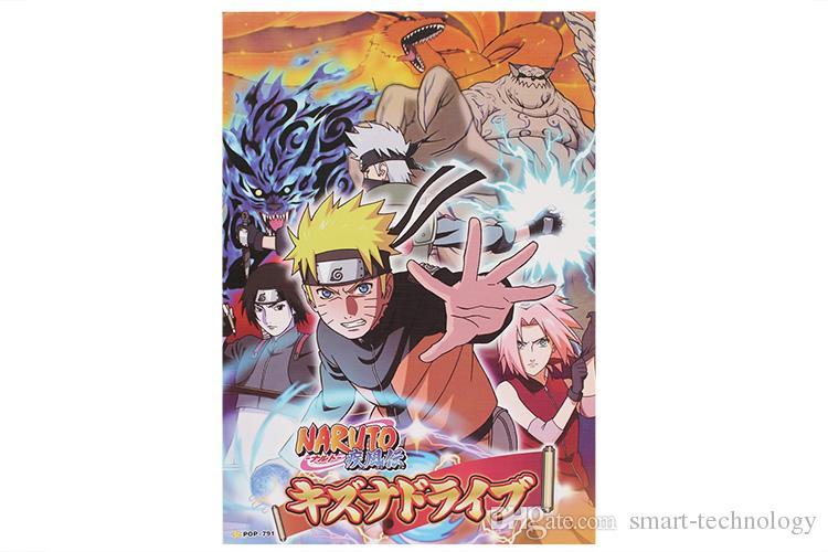 Anime Naruto Poster Hohe Qualität Poster-Wand-Aufkleber-Raum-Dekoration / set 42X29CM Qualitäts-freies Verschiffen