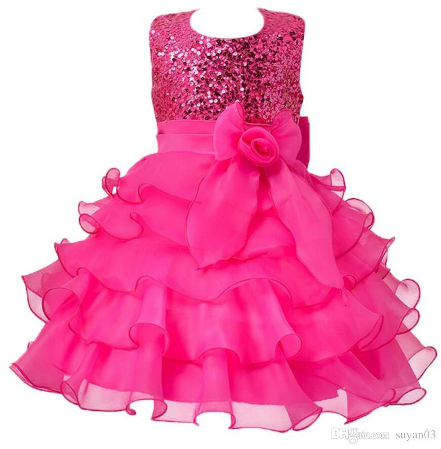New Year Girls Dresses For Christmas Party Baby Girls Layered Princess  Dresses d0548bd4def6