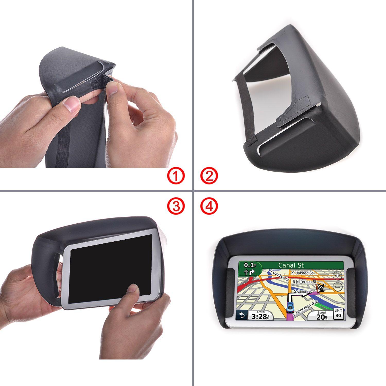 "TFY Sunshade & Glare Visor for 5"" inch , 7"" inch Garmin Nuvi GPS and Other GPS Navigators"