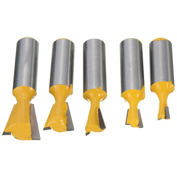 dovetail router bits. 1/2 inch shank straight rail stile router bit woodworking chisel set 5 type dovetail tenon cutter tlade lowest price bits