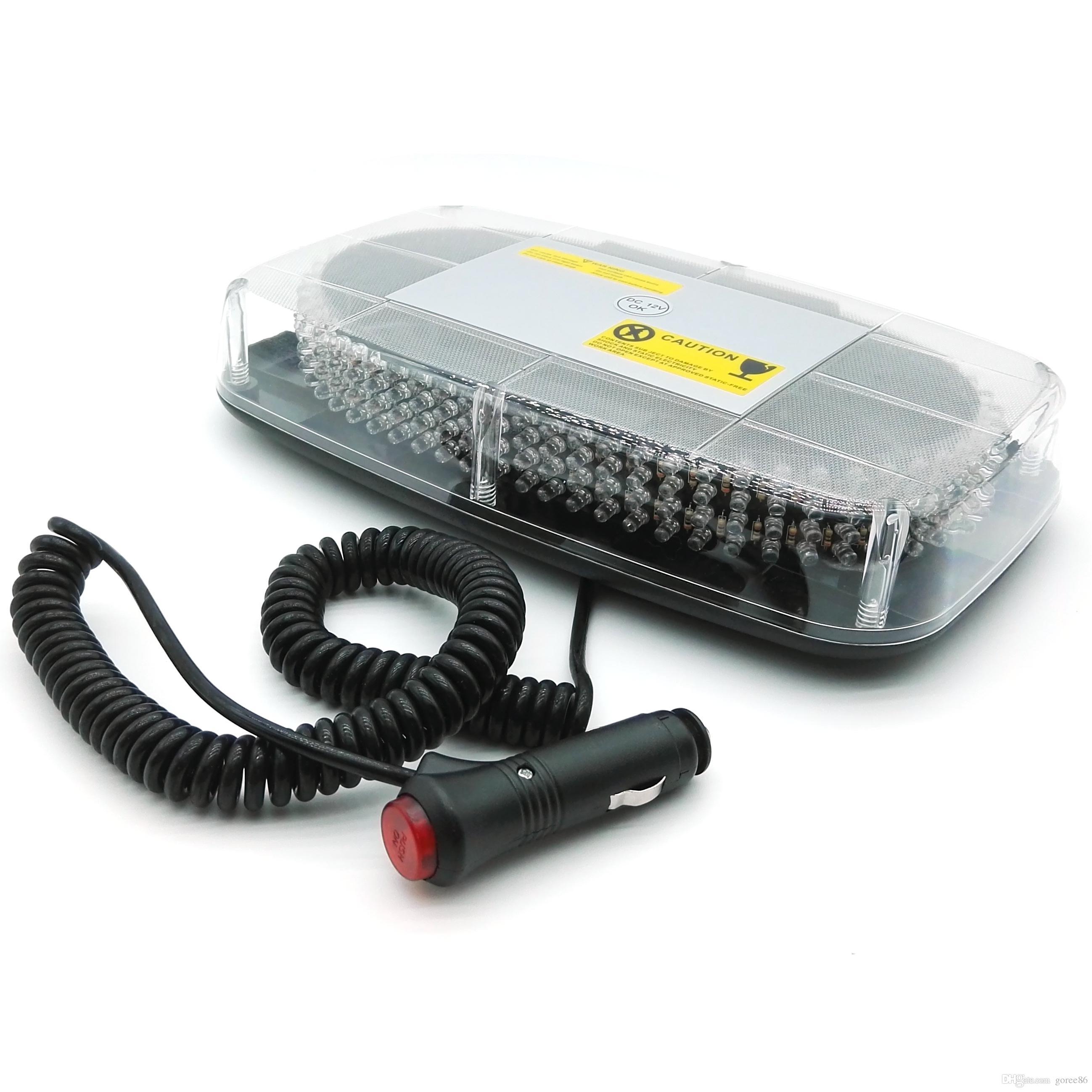 240 LED аварийное предупреждение мигающий стробоскоп лампа автомобиль полиции автомобиль свет DC12V белый желтый / янтарный
