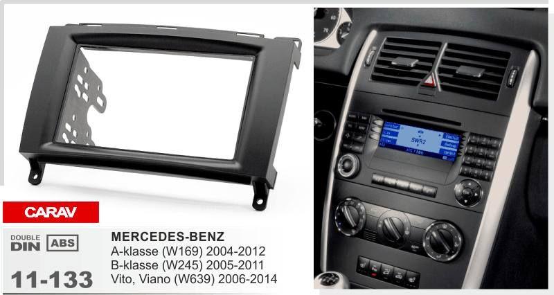 Carav 11 133 Top Quality Radio Fascia For Mercedes Benz A Klasse Vito W639 Viano Stereo Fascia Dash Cd Trim Installation Kit