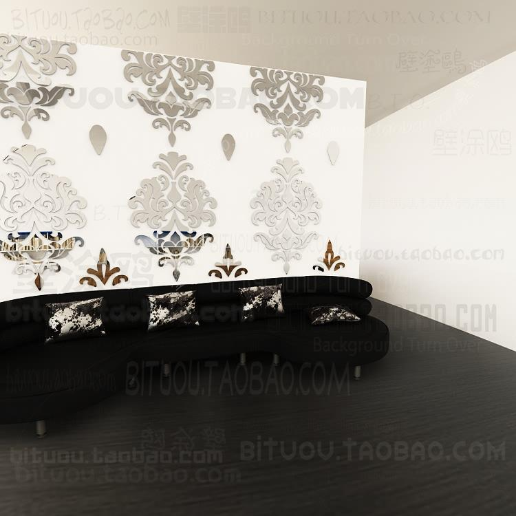 Mirrored Wall Decals sofa wall stickers home decor europe vintage baroque rococo 3d