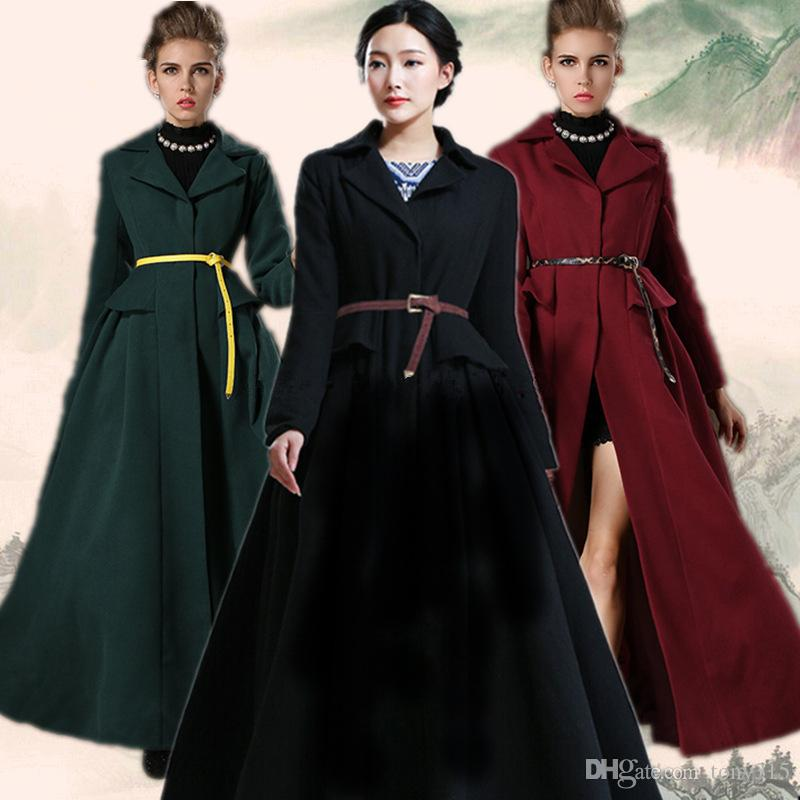 2017 Spring Winter Thick Wool Coats Female Woman Winter Coat ...