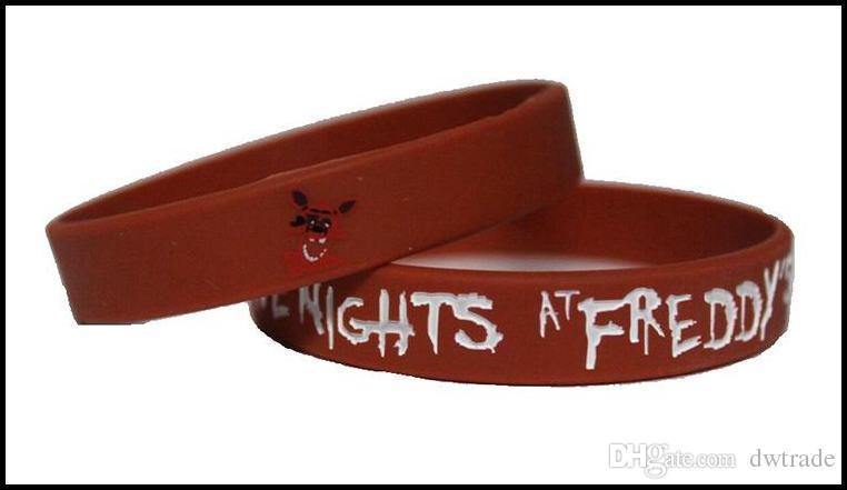 Prettybaby cinque notti al braccialetto in silicone di freddy cinghie da polso FNAF figure giocattoli bambini Halloween Natale Pt0230 # DHL FREESHIP