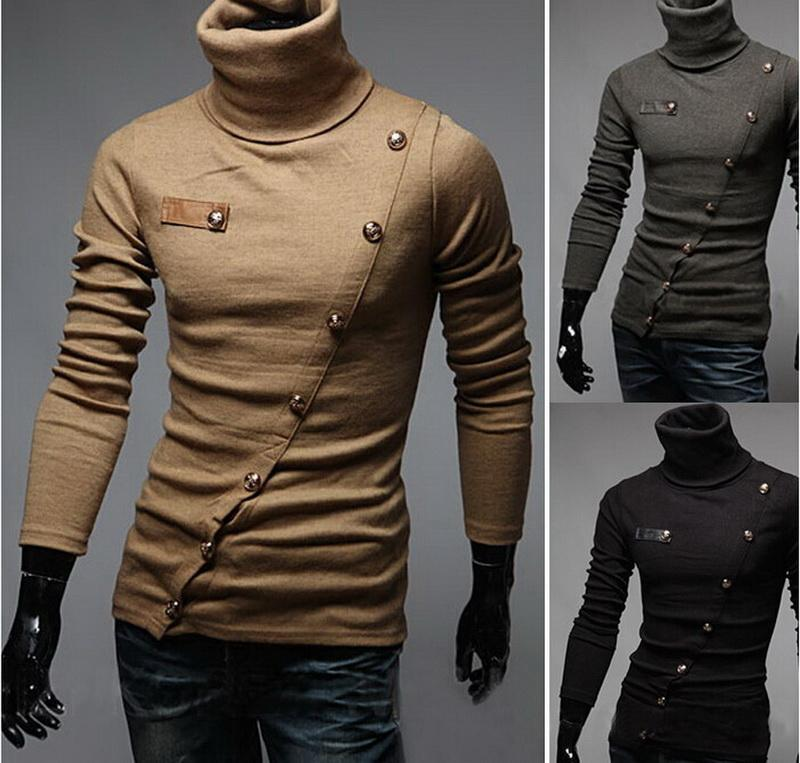 2019 2016 New Mens Long Sleeve Turtleneck Sweaters Men Fashion