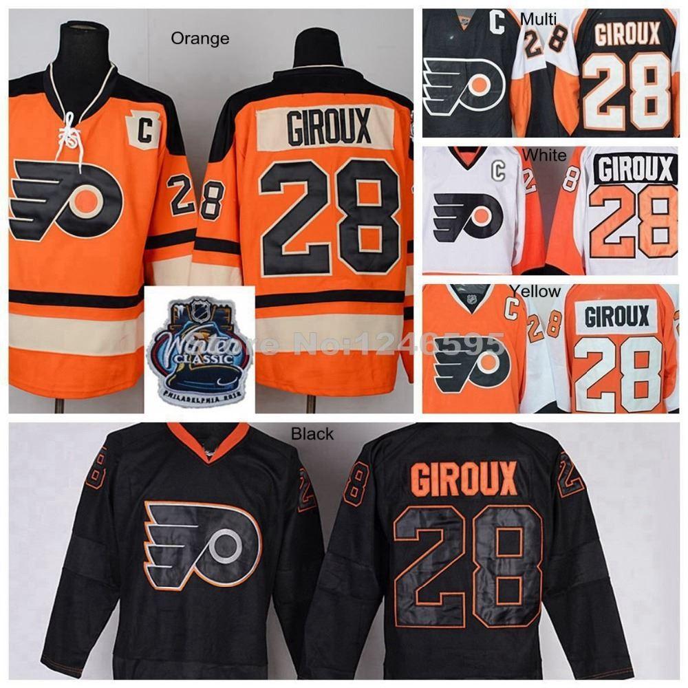 dedf99ae86a ... 2017 Factory Outlet, 28 Claude Giroux Jersey Philadelphia Flyers Hockey  Jersey Home Orange Claude Giroux ...