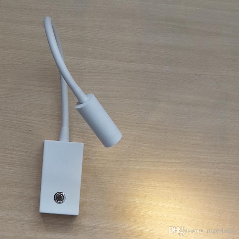Topoch Lamp Lamp Dimmer Blue Mood Light Touch On / Off / Interruttore Dim Angolo di illuminazione regolabile Lente di messa a fuoco 3W camera da letto Camper Barche