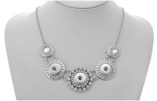 Satışa 15% kapalı Snap Düğmesi Noosa Zincir Kolye uzunluğu 50 cm Kadınlar için Antik Gümüş Takı Parti Takı, damla nakliye 20 adet