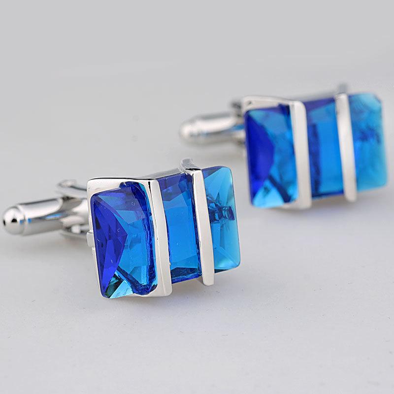 Royal Blue gemelos de cristal para hombre de cobre gemelos de boda Gemelos Moda Joyería Mejor Regalo de Navidad C045
